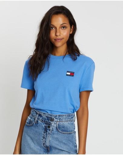 Tommy Jeans Badge Tee - Women's Ultramarine