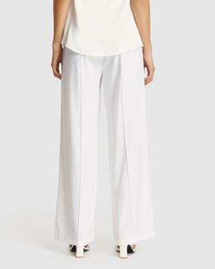 FRIEND of AUDREY Leigh Wide Leg Pants - Pants (White)