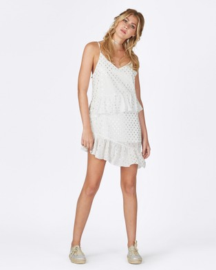 Times Ten – Solid Ground Dress – Dresses (White & Silver Spot)