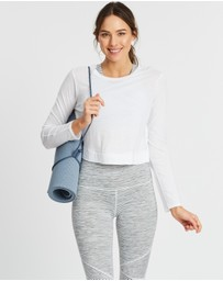 Beyond Yoga - Back Out Cropped Pullover Top