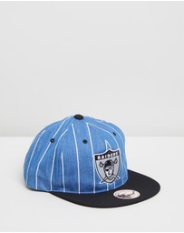 Mitchell & Ness - Denim Pinstripe Low Crown Retro Fit Snapback