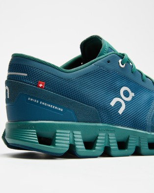 On Running Cloud X   Men's - Performance Shoes (Storm & Tide)