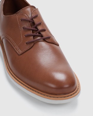 Clarks Draper Lace - Casual Shoes (Tan Leather)