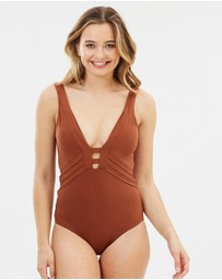 JETS - Plunge One-Piece Swimsuit