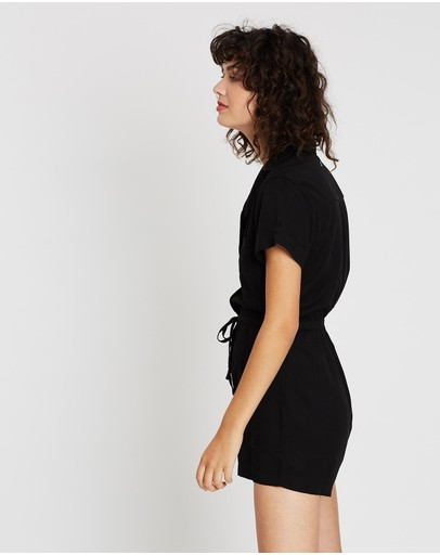 All About Eve Harper Playsuit Washed Black