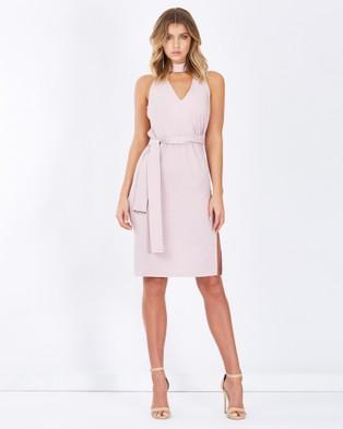 Tussah – Jemina Split Hem Midi Dress Mauve