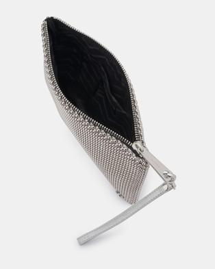 Olga Berg Vivian Ball Mesh Wristlet - Handbags (Silver)