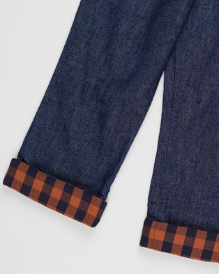 Pappe Chipper Jeans   Kids - Jeans (Navy Check)