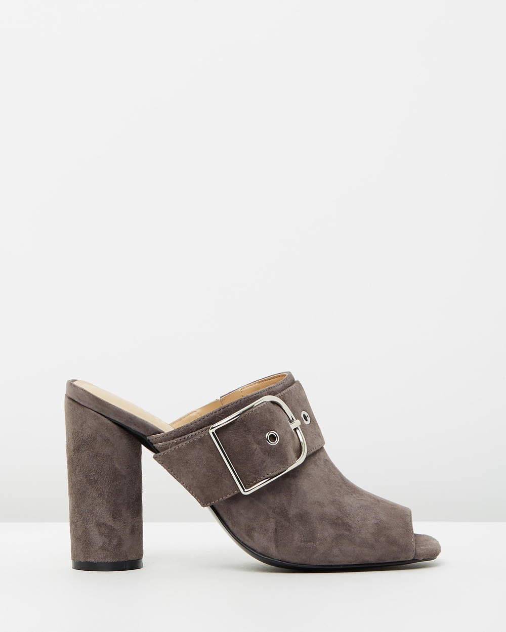 Mode Collective Anthea Heels Charcoal Suede Anthea