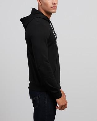 Emporio Armani EA7 - Felpa Logo Hoodie Hoodies (Black)