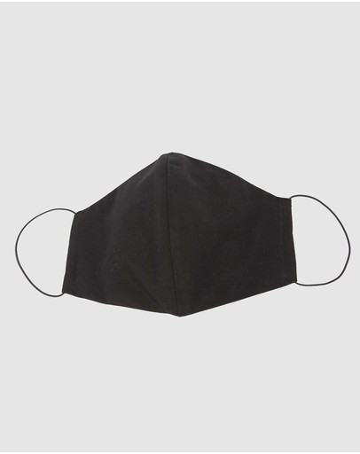 Cupid's Millinery Reusable Cotton Face Mask Black