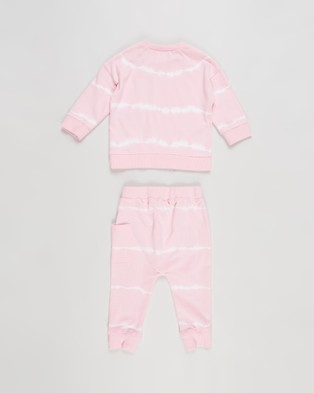 Cotton On Baby Enzo Zac Tracksuit   Babies - Sweats (Cali Pink Linear Tie Dye)