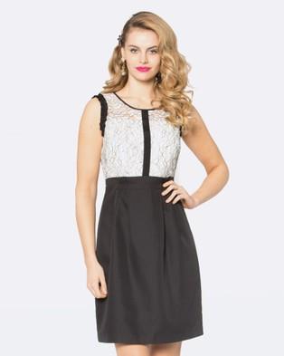 Alannah Hill – Her Heirloom Dress Black/Cream