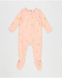Cotton On Baby - Long Sleeve Zip Romper - Babies