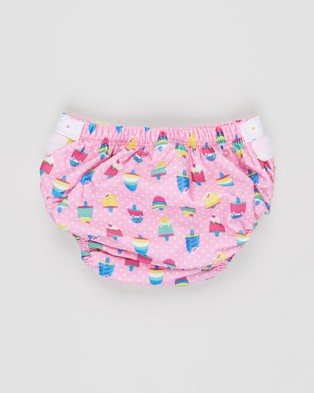 Zoggs Ice Cream Adjustable Swim Nappy   Babies - Briefs (Pink Multi)