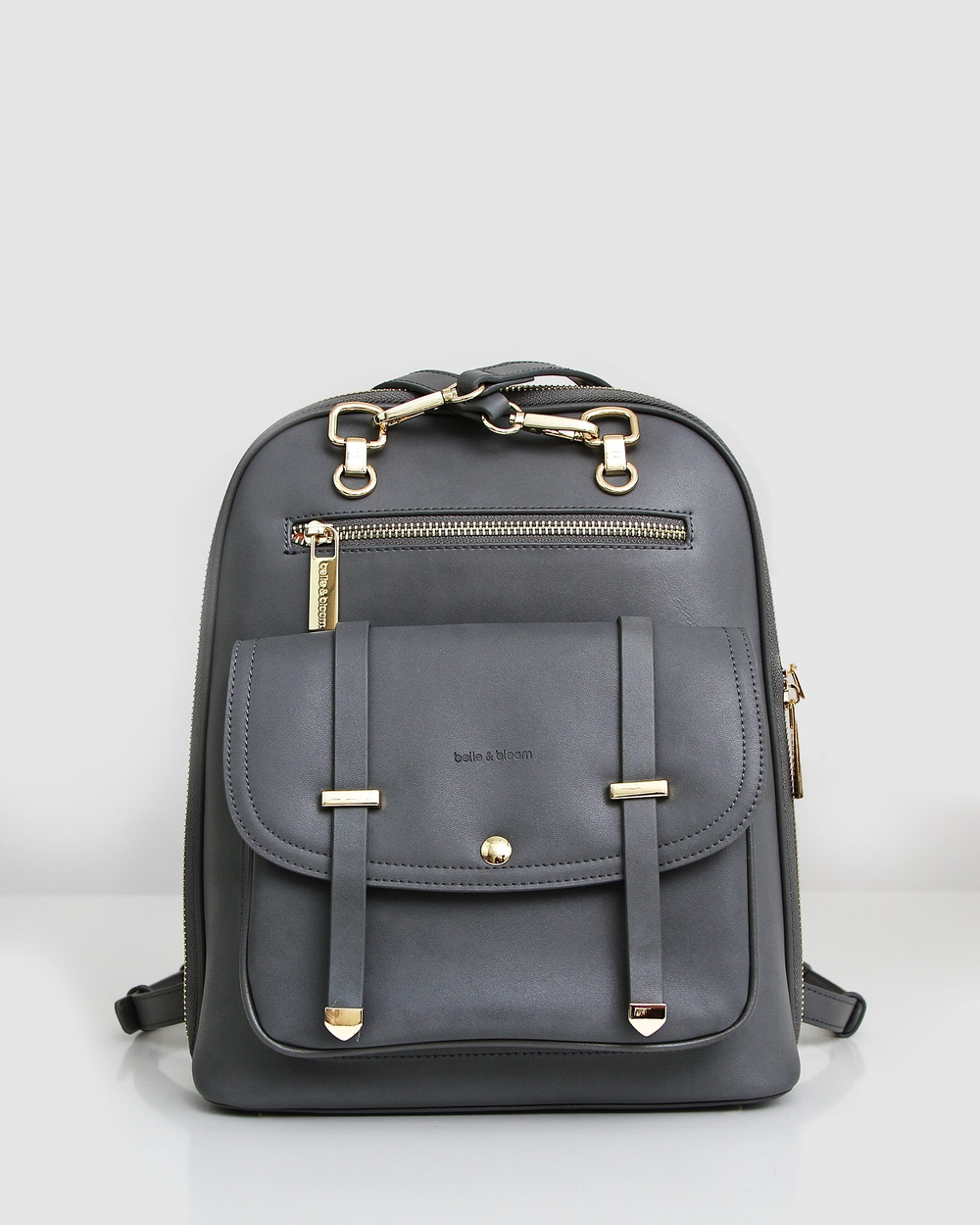 Belle & Bloom 5th Ave Leather Backpack Backpacks Grey Leather bags Australia