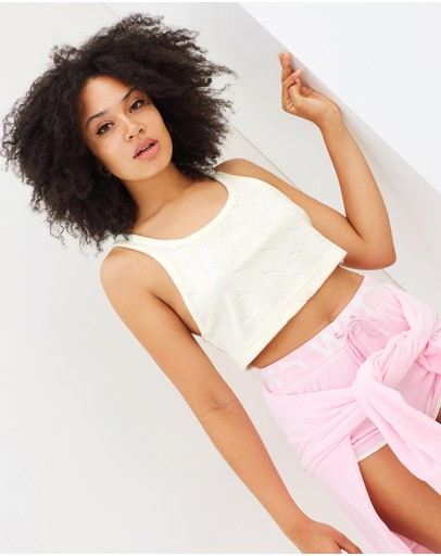 Fenty Puma - Jaquard Terry Cropped Tank Top