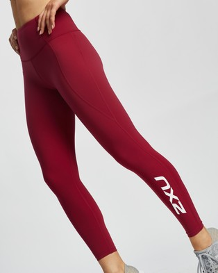 2XU Fitness New Heights Comp Tights - Full Tights (Cym & White)