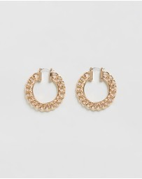 TOPSHOP - Chain Hoop Earrings