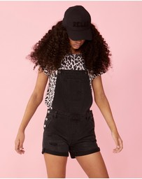 Decjuba Kids - Lily Denim Short Overalls - Teens