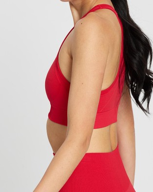 Doyoueven Hyperflex Seamless Crop - Crop Tops (Ruby Red)