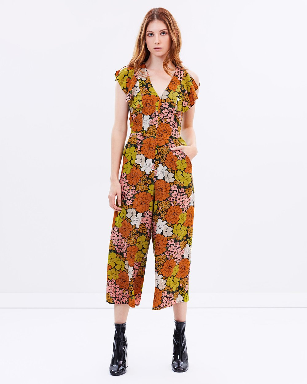 Celina Tangerine Dream Jumpsuit By Whistles Online The