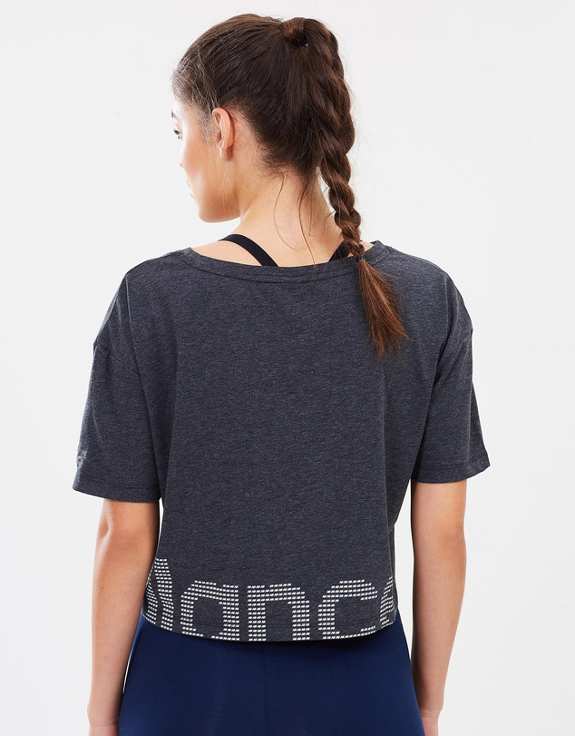 New Balance - Graphic Heather Tech Crop Tee