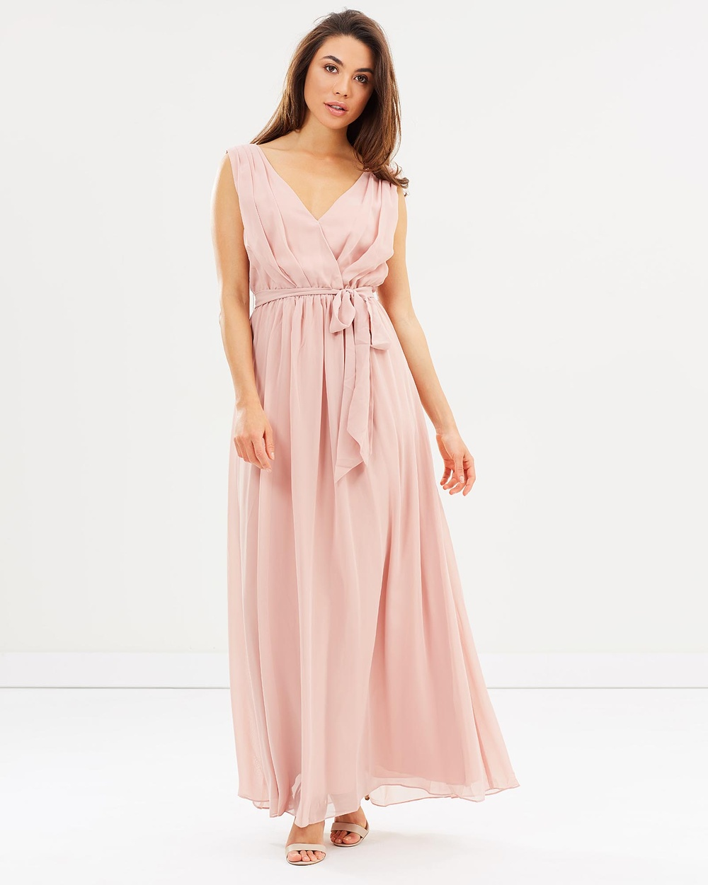 Esther Tulip Maxi Dress Bridesmaid Dresses Dark Blush  Tulip Maxi Dress