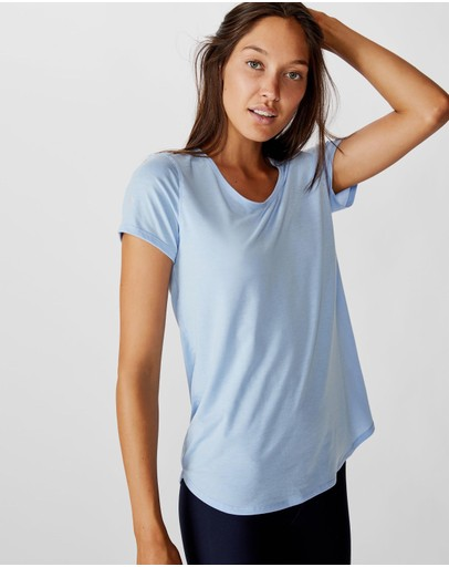 Cotton On Body Active Maternity Gym Tee Skye Blue
