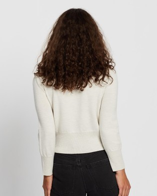 Mcintyre Polly Cropped Merino Jumper - Jumpers & Cardigans (Cream)