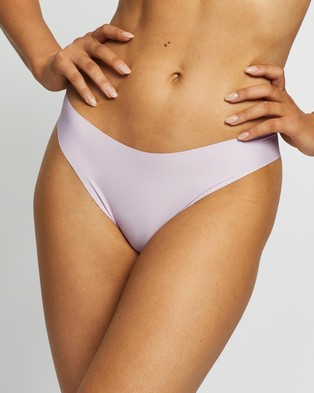 Cotton On Body Invisible High Cut Brasiliano Briefs   3 Pack - Thongs & G-Strings (Frappe, Lounge Leopard & Lilac Snow)