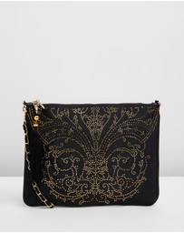Camilla - Zip Top Clutch with Chain
