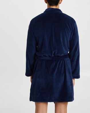 Calvin Klein Plush Robe - Sleepwear (Navy)