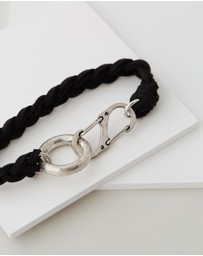Icon Brand - Suede Plaited Bracelet