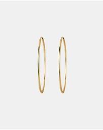 Elli Jewelry - Earrings Hoop 925 Sterling Silver gold plated 58mm