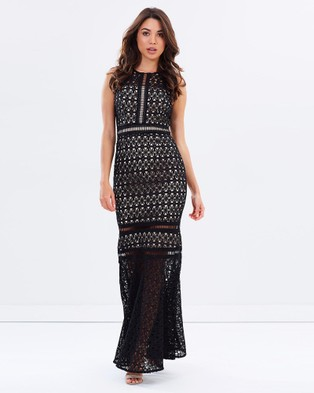 Romance by Honey and Beau – Garland Lace Maxi – Dresses (Black)