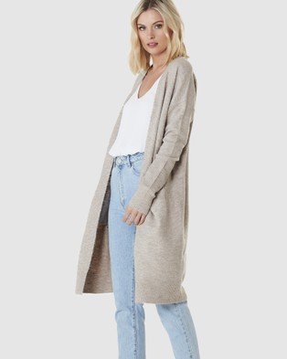 Everly Collective Toronto Long Cardigan - Jumpers & Cardigans (Chai)