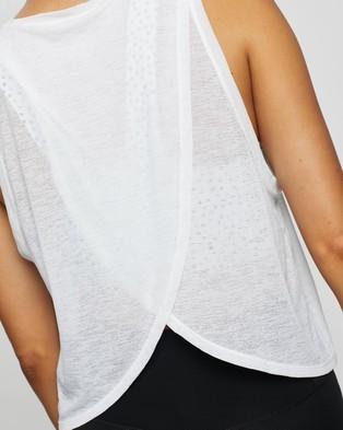 Nimble Activewear Cross Back Tank - Muscle Tops (White)