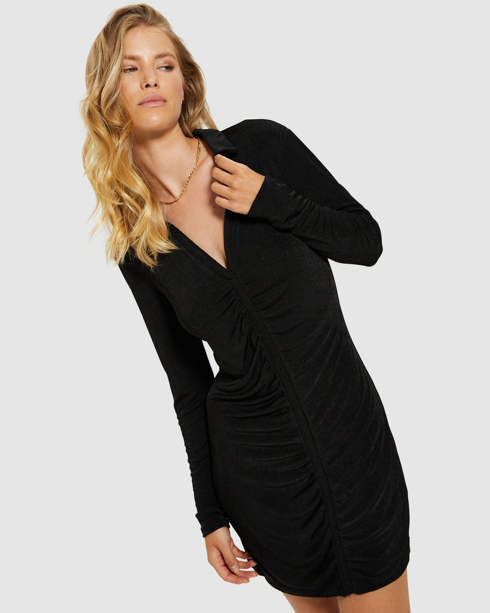 Alice In The Eve Savannah Slinky Shirt Dress Dresses BLACK