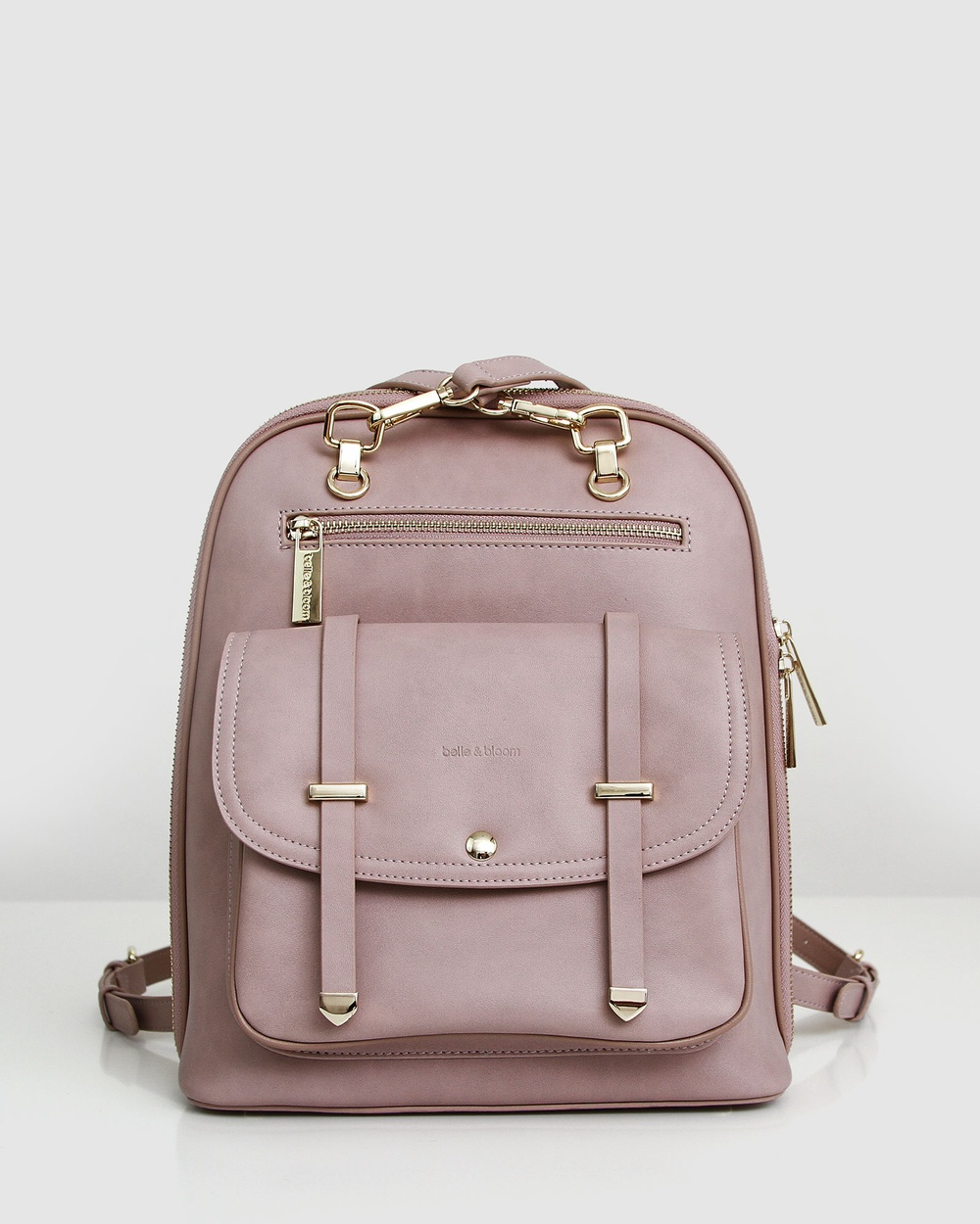 Belle & Bloom 5th Ave Leather Backpack Backpacks Pink Leather bags Australia
