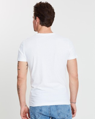 Calvin Klein Jeans Core Institutional Tee - T-Shirts & Singlets (Bright White)