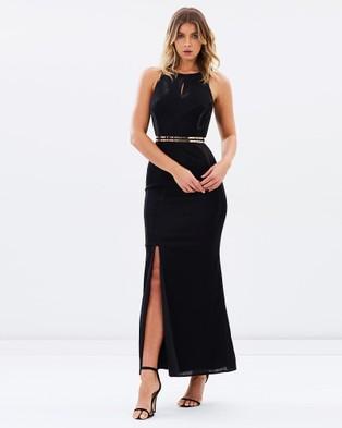 Alabaster The Label – Luminescence Dress Black & Black Shimmer