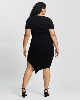 Atmos&Here Curvy Izabel True Knit Dress - Bodycon Dresses (Black)