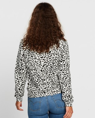 Atmos&Here Pixie Relaxed Lounge Sweat Top - Sweats (Animal)