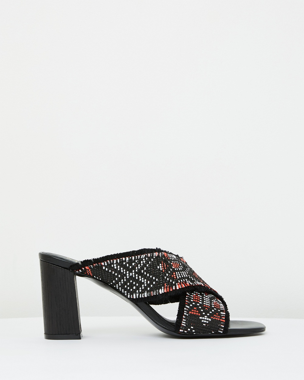 Mode Collective Sandstorm Low Mule Heels Black / Red Sandstorm Low Mule