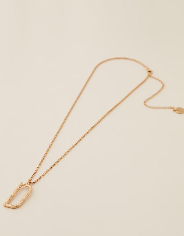 Women Grande Letter Necklace - D