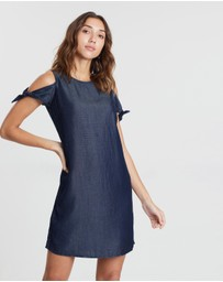 Dorothy Perkins - Cold Shoulder Tie Sleeve Tunic