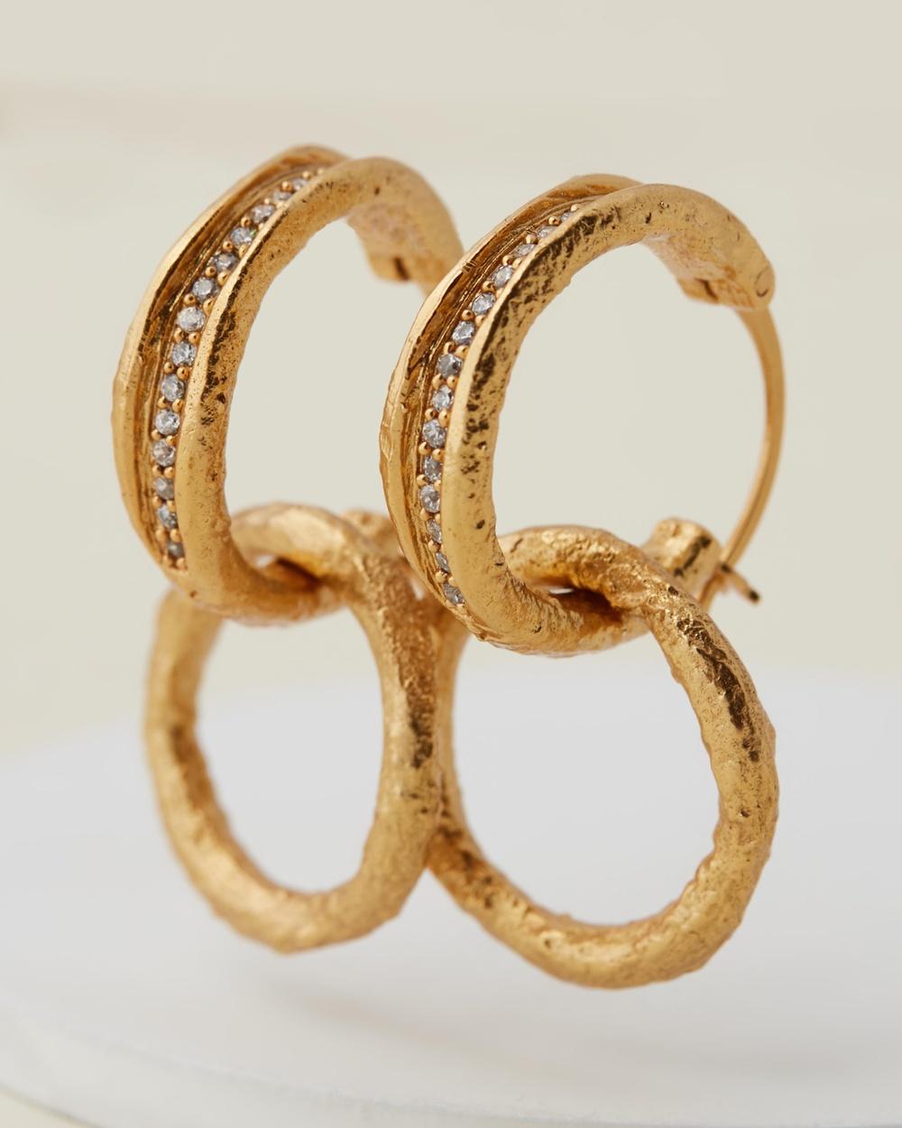 M.N.G Svetlana Hoop Earrings Jewellery Gold