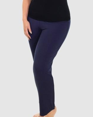 B Free Intimate Apparel Bamboo Classic Straight Leg Pants Sleepwear Navy