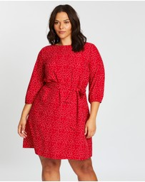 Atmos&Here Curvy - Jenna Dotty Dress